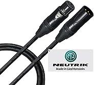 91.44 厘米 - 四根平衡麦克风电缆由 WORLDS *佳电缆 - 使用 Mogami 2534 线和Neutrik NC3MXX-B 公式 & NC3FXX-B 母头 XLR