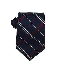 Tommy Hilfiger 汤米·希尔费格男式丝绸网格领带