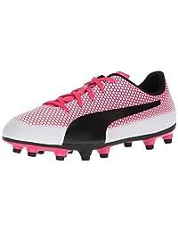 PUMA 彪马 儿童款 Spirit FG 足球鞋 Puma White-puma Black-paradise Pink 5.5 M US 儿童