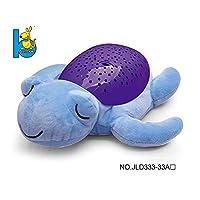阿优威 毛绒安抚玩具 声光投影玩具 婴幼儿哄睡玩偶 新生儿0-3岁睡眠仪 投影动物益智玩具 (安抚海龟(紫色))