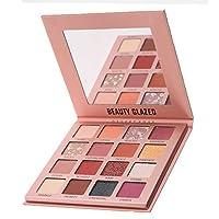 Beauty Glazed Pro 高色眼影盤啞光閃光16色眼影盤防水粉自然裸色裸色閃光化妝盤