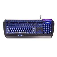 Tesoro Colada Evil G3NL Brown Cherry MX Switch USB Hub Blue LED Backlit Illuminated Aluminum Gaming Mechanical Keyboard TS-G3NL (B) BW