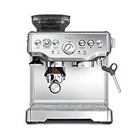 Sage BES875UK The Barista Express咖啡機,帶控溫牛奶壺,拉絲不銹鋼