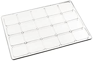 Shirley K's Storage Trays PT 125 Compartment Tray, Small, Clear