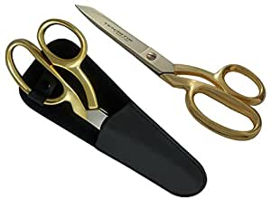 20.32cm 面料、制服、缝纫剪刀、镀金黑色Scabbard - Tenartis 377 意大利制造 金色和黑色