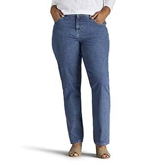 LEE 女式加大码休闲全棉直筒牛仔裤 Aero 24
