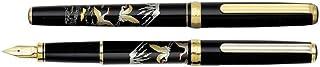 日本白金 Platinum 美巧 高级加贺描金画笔杆 PTL-12000M 钢笔 #18M双鹤富士山 (中)