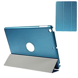 JUJEO 编织图案三折支架皮革翻盖保护套,适用于 iPad Air 2,蓝色(11020513H)
