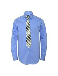 Chaps 大男孩系扣衬衫和领带套装