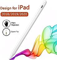 iPad 手写笔 兼容 Apple Pencil 2 代 适用于 iPad/Pro 2018/2019/202020,手掌拒绝 白色