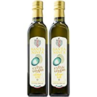Santa Ninfa 100% Italian Extra Virgin Olive Oil, 17 Fl Oz Marasca Glass Bottle (Pack of 2)