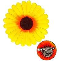 Widmann 01320 女式向日葵发夹和胸针黄均码