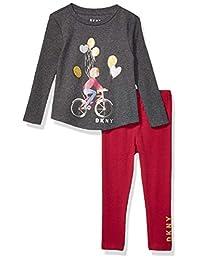 DKNY 女童时尚上衣和打底裤套装(更多款式可选)