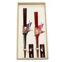 兵左卫门 夫妇筷子套装 (木盒入) 六角筷 104504