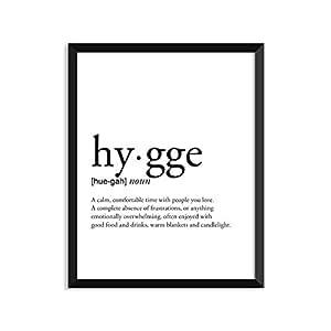 Hygge Definition - 无框艺术印刷海报或贺卡 4x6 Art Print