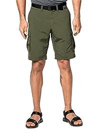 "Jack Wolfskin Canyon 工装短裤 52 (US 36"") 绿色 1504201-5052052"