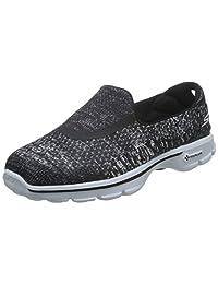 Skechers 斯凯奇 GO WALK 3系列 女 轻质彩色一脚蹬健步鞋  14057C-NVW5 海军蓝色/白色 35 (US 5)