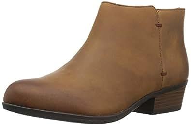 Clarks Women's Addiy Zora Ankle Bootie 棕褐色皮革
