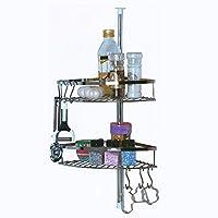 Alpina 高度可调角厨房储物架不锈钢双架