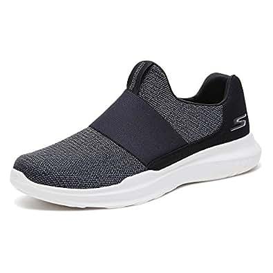 Skechers 斯凯奇 GO RUN MOJO系列 男 时尚轻质运动鞋 55111-BKW 黑色/白色 44 (US 10.5)