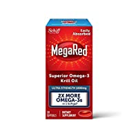 Schiff 旭福 MegaRed 1000mg 强度Omega-3磷虾油 - 无鱼腥余味鱼油,30粒软胶囊
