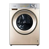 Panasonic 松下 10公斤 变频带烘干 滚筒洗衣机 XQG100-EG129 光动银除菌除螨金色(亚马逊自营商品, 由供应商配送)