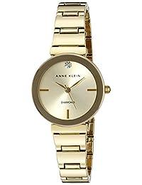 Anne Klein 女式 AK/2434CHGB 钻石装饰金色手镯手表