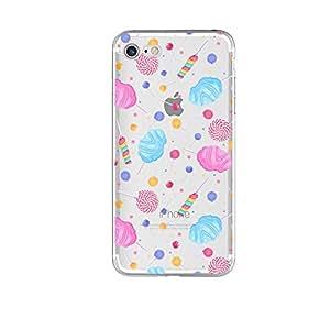 iPhone 8/iPhone 7 手机壳(4.7 英寸),Blingy's 全新炫酷系列透明软橡胶 TPU 透明手机壳 iPhone 8/iPhone 7 Candy Mix