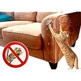 "LAMINET 原装豪华宠物防刮罩 - 使用我们的豪华重型弹性塑料家具、门和墙壁防刮罩 Cat Scratch Shield - Set of 4 18"" x 5.5"" - Set of 4"