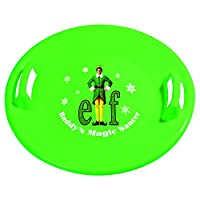 Slippery Racer Buddy The Elf Downhill Pro Saucer Snow Sled,绿色
