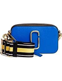 Marc Jacobs 女式 单肩包 SNAPSHOT M0012007-OS 耀眼蓝混色 18.3 * 5.9 * 10.5cm