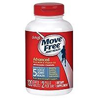 Move Free 益節 氨糖軟骨素 維骨力 添加MSM維生素D3 藍盒加強版,120粒