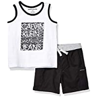 Calvin Klein 男寶寶背心短褲兩件套