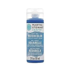 Martha Stewart Crafts 柔软凝胶水彩丙烯酸涂料混色(56.7 毫升) 靛蓝色 18046