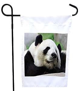 Rikki Knight 熊猫房或花园旗帜,27.94 x 27.94 cm 图片,30.48 x 45.72 cm