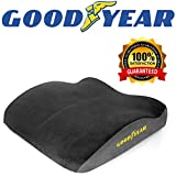 Goodyear GY1010 黑色/灰色汽车座椅靠垫,高级*泡沫,超软毛绒 Universal