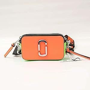 Marc Jacobs 女式 斜挎包 Snapshot flouro M0014503-OS 亮橘色 18.6 * 5.12 * 10.8cm
