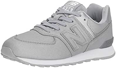 New Balance Unisex Kids' 574v2 Trainers, Silver (Silver/Silver Ks), 1 33 EU