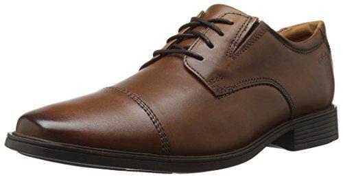 Clarks 男式 Tilden Cap 牛津鞋
