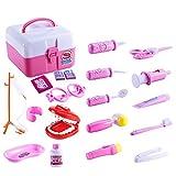 FunsLane 儿童*套装,*假装游戏套装 20 件*工具,*角色扮演服装装扮,假日礼物,学生课堂教育玩具,适合女孩和男孩 粉红色