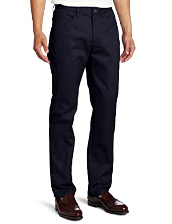 Lee Uniforms Men's Slim straight 5 pocket pant, Navy, 28Wx30L