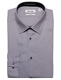Calvin Klein 色调/条纹修身款 * 纯棉纯色衬衫 - 33T046