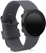 kwmobile 硅胶手表表带 适用于 Polar Vantage M - 健身追踪器替换表带 - 运动腕带手镯 带扣47320.73_m000882 煤灰色