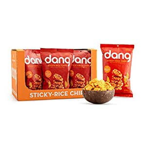 Dang Sticky Rice Chips, Sriracha, 3.5oz Family Size Bags, 3.5 Ounce (12 Count)