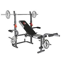 Hammer Bermuda XT 重量长椅 - 黑色/红色/银色