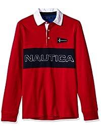 Nautica 男士传统标志长袖 Polo 衫
