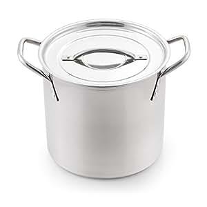 McSunley 612 不锈钢烹饪汤锅 5 件套 银色 6 quart COMINHKG090941