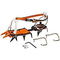 Petzl Lynx crampons for ice and mixed terrain, made from steel, for an extremely secure hold when climbing, orange, one size