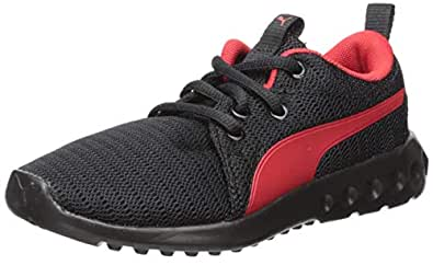 PUMA Carson 2 儿童运动鞋 黑色高风险红 1 Little Kid