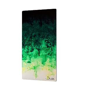 "ArtWall Shiela Gosselin's Green Watery Artmetalz Aluminum Print, 12 by 24"""